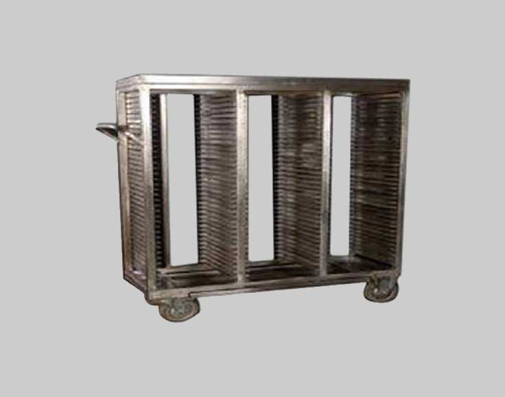 Soiled Plate Rack Trolley